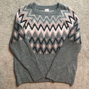 A New Day fair isle sweater crewneck medium